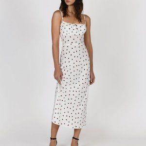 The Alba White Strawberry Dress